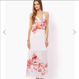 Charming Charlie Floral Maxi Dress